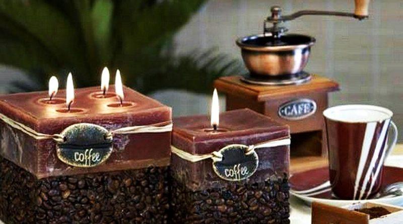 Bougie senteur café faite le vous même